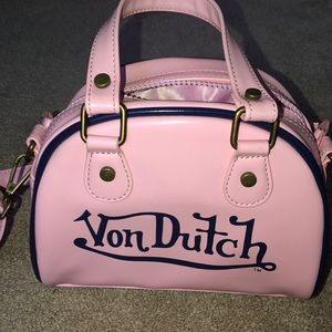 Pink Von Dutch mini purse